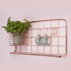 [SALE] Kitchen Rack Set Open Grid - Gold