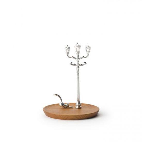 Accessory Stand cat & lightpost - Natural