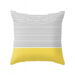 Minimal Yellow Stripes Cushion