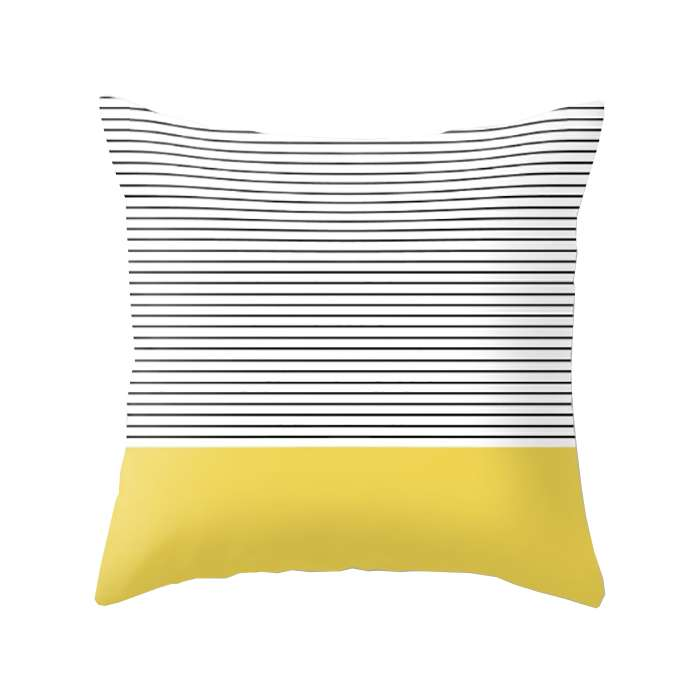 Minimal Yellow Stripes Cushion