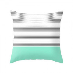 Minimal Mint Stripes Cushion