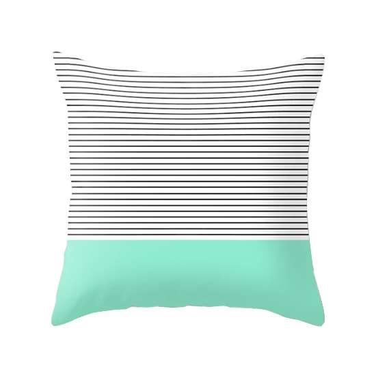 Minimal Mint Stripes Cushion