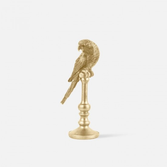 Statue Parrot Polyresin Gold