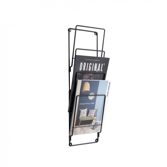 Magazine Rack Steel Wire Gold Plated