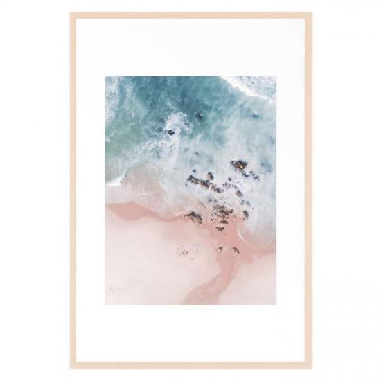 Sea Bliss, Large, Ash Wood Framed