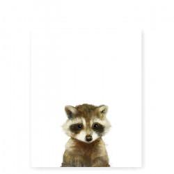 Little Raccoon art print - Small