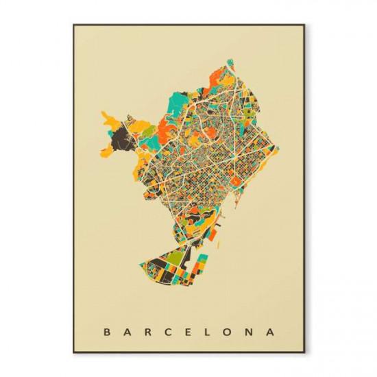 Amsterdam Map - Art Print Medium