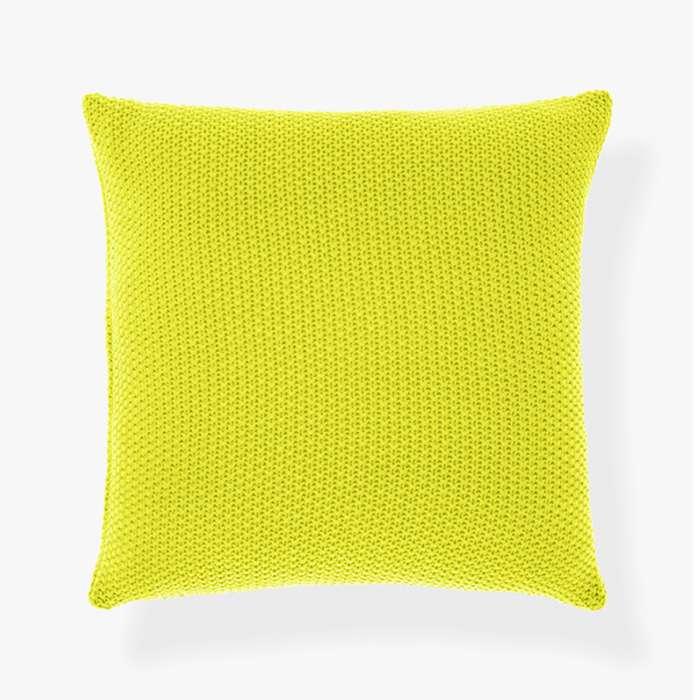 Moss Stitch Cushion - Neon Lime