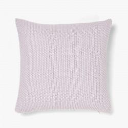 Moss Stitch Cushion - Pink