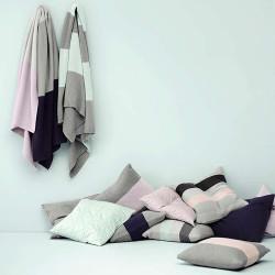 Moss Stitch Cushion - Pastel Mint
