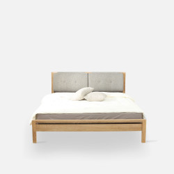 [SALE] Double Dip Bed - With Cushion, Oak