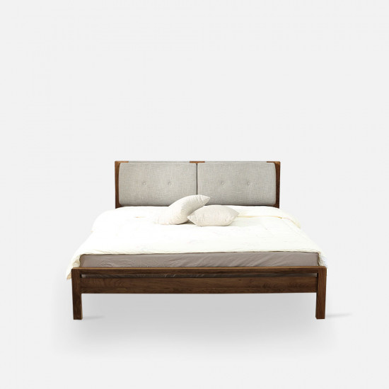 Double Dip Bed - With Cushion, Walnut