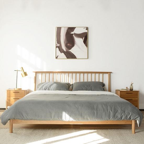 Linear Bed Frame, L150/180, Cherrywood