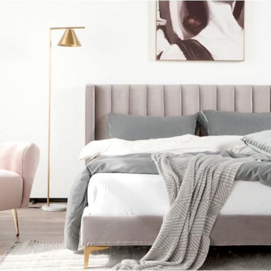 SWAN Bed Frame, L150/180, Blue