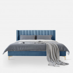 SWAN Bed Frame, L150/180, Blue