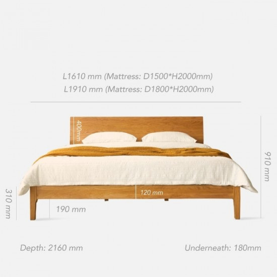 NADINE Cherry Bed Frame I, L150 / L180