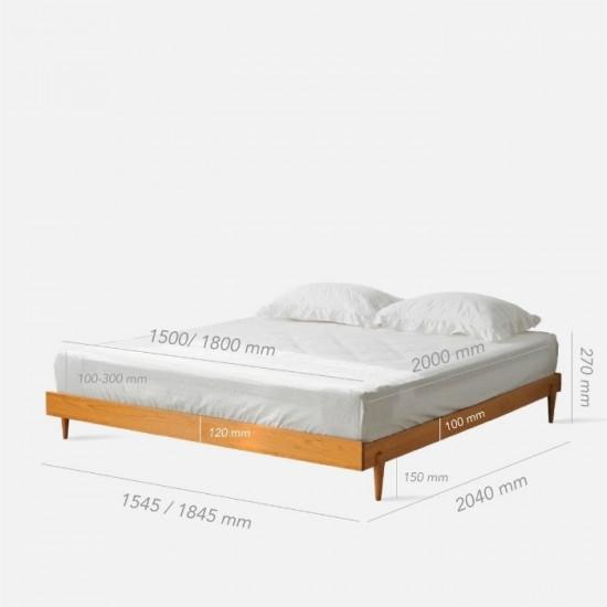 NADINE Cherry Tatami Bed, W154/185