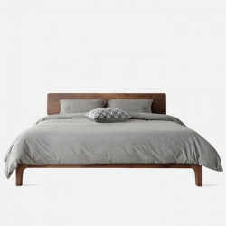 DANDY Bed Frame, Natural Walnut, new