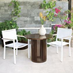 LuiLei Stackable Armchair, White
