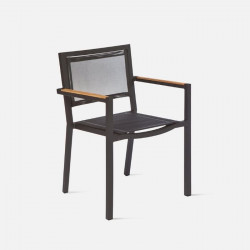 LuiLei Stackable Armchair, Black