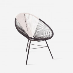 REMIX Lounge chair, Black & White