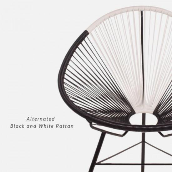 REMIX Lounge chair, Black & White