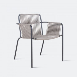 REMIX Stackable Outdoor Chair, Grey