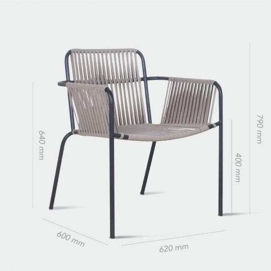 REMIX Stackable Outdoor Chair, Grey