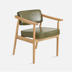 DOLCH Lounge Chair, W58, Oak