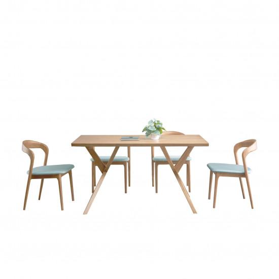 LUCA Dinning Chair, W46, Ash