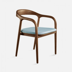 LUCA Arm Chair, W49, Walnut