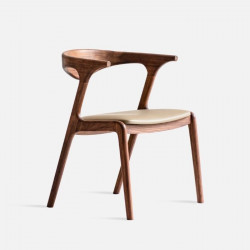 DANDY Horn Chair, Natural Walnut