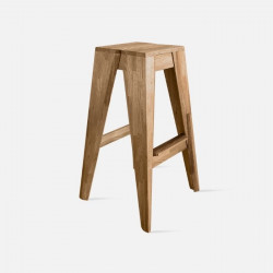Piece Bar Stool - Oak