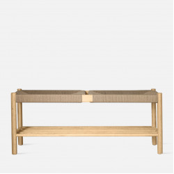 Unite Bench with rope weave, W110, Oak