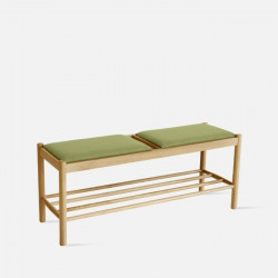 Unite Bench with Fabric, W110 Oak