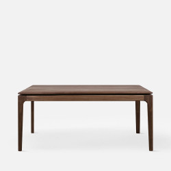 MOON Bench, L90-130, Natural Walnut