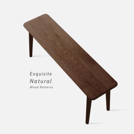 NADINE Bench L115/120/135, Natural Walnut