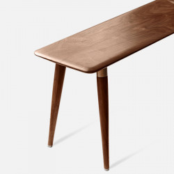DANDY Bench with Brass, Natural Walnut [In-Stock]