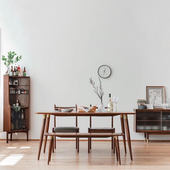 DANDY Dining Table, Natural Walnut II