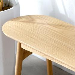 Curve Wooden Bench L120