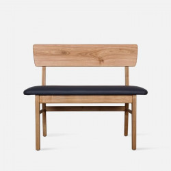 SEN Bench with Back, Natural Ash