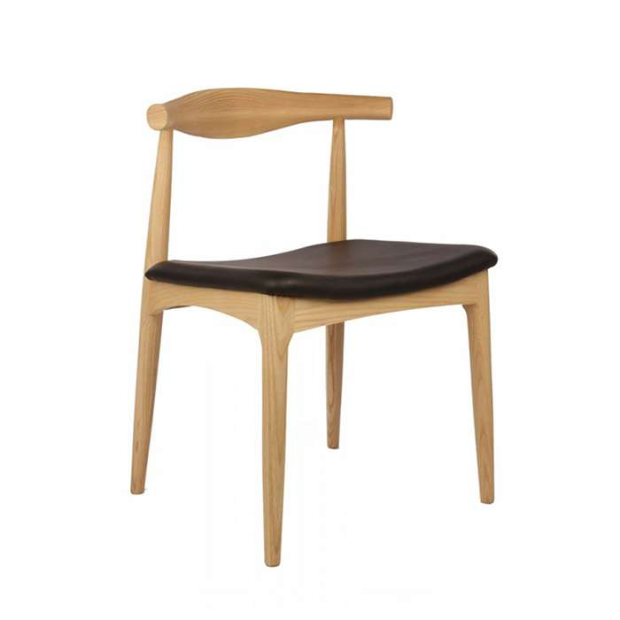 Elbow Style Chair - Oak with Black