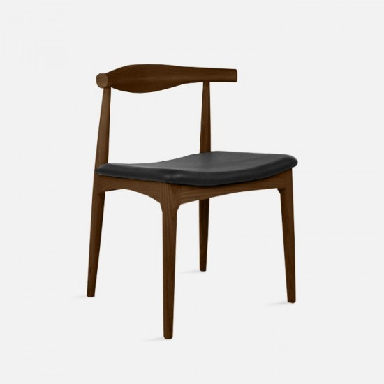 [Outlet] Elbow Style Chair - Walnut with Black
