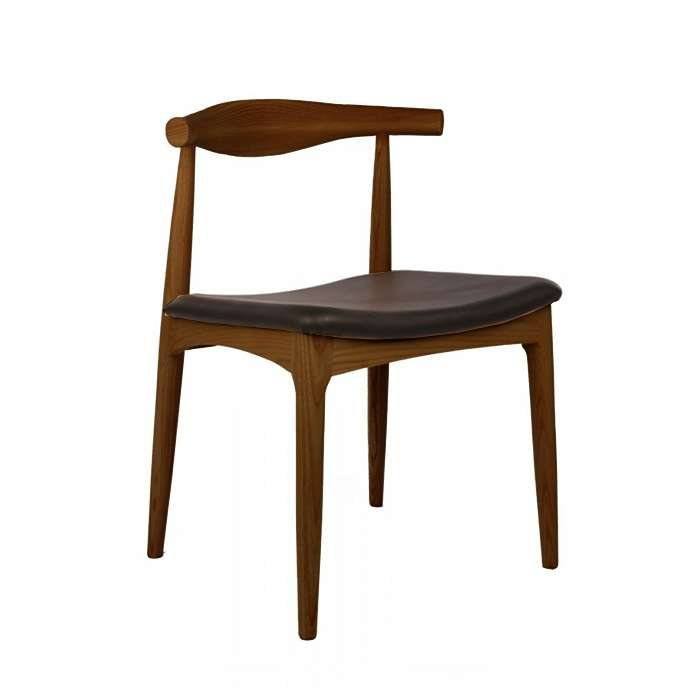 Elbow Style Chair - Walnut with Black