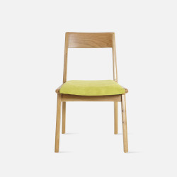 [SALE] Linear Chair, W46, Green with Walnut