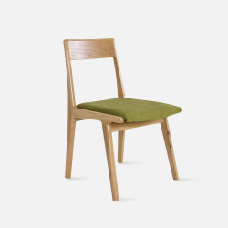Linear Chair, W46, Green with Oak [Display]