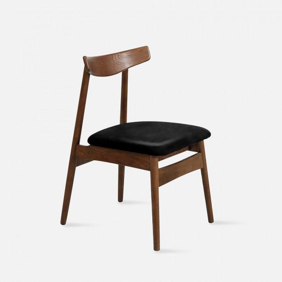 [Sale] Curve Chair W46 Walnut with black cushion