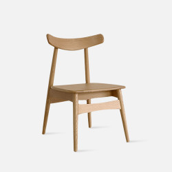 Wooden Curve Chair, W45, Oak