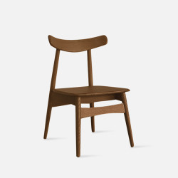 Wooden Curve Chair, W45, Walnut