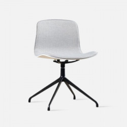 L Shape with stainless Steel Legs, Light Grey Fabric
